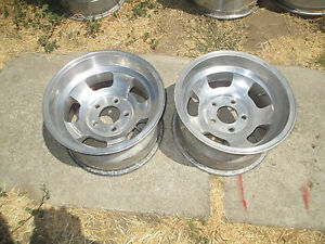 15x8 5 Real American Racing Slot Mag Wheels Rims Chevy Truck Pontiac Ford 5x5