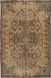 Hand Knotted Turkish 5 5 X 6 7 Melis Vintage Wool Rug Discounted