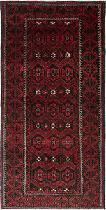 Hand Knotted Persian Carpet 4 0 X 8 0 Persian Vintage Traditional Wool Rug