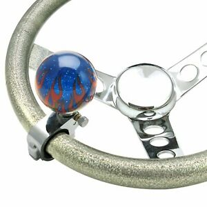 Blue Flame Adjustable Suicide Brody Knob Translucent With Metal Flake Rod