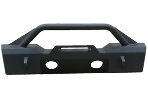 Front Bumper For 97 06 Jeep Wrangler Tj Black Textured W D Rings
