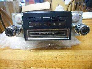 Rebuilt Original 1970 Ford Mustang Factory Am 8 Track Stereo Radio W Knobs