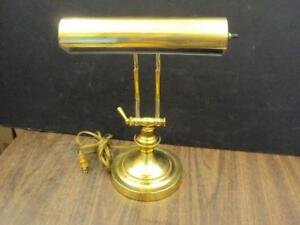 Vintage Bankers Desk Piano Lamp 14 High Base 6 Nice Condition