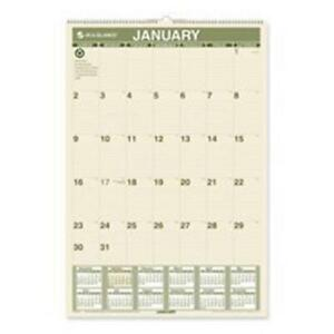 At a glance Aagpm3g28 Wall Calendar Recycled 12 month Jan dec 15 50in x2