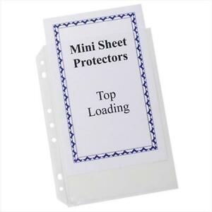 C line Products 03758bndl4pk Mini Size Top Loading Poly Sheet Protectors 5 5