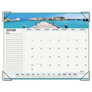 At a glance 89803 Panoramic Seascape Monthly Desk Pad Calendar 22 X 17