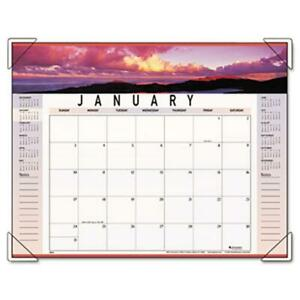 At a glance 89802 Panoramic Landscape Monthly Desk Pad Calendar 22 X 17