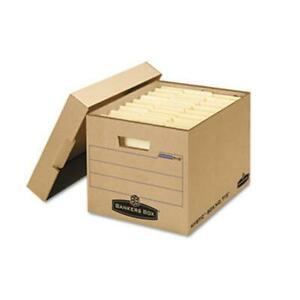 Bankers Box Fel7150001 Filing Storage Box With Locking Lid Letter legal Kraft
