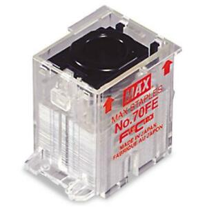 Max No 70fe Staple Cartridge For Eh 70f Flat clinch Electric Stapler 5 000 box