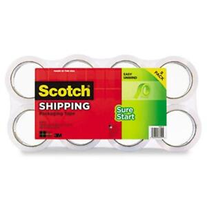 Scotch 3450 8 Sure Start Packaging Tape 1 88 quot X 54 6 Yards 1 88 quot