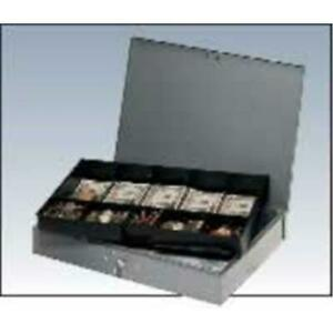 Mmf 2215cbtgy Cash Box With Tray Gray