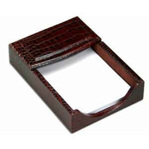 Dacasso A2009 Crocodile Embossed 4x6 Memo Holder