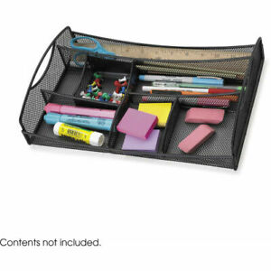 Steel Mesh Desk Drawer Organizer And Desktop Caddie Seven Compartments Black