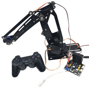 Stainless Steel Diy 4 dof Ps2 Remote Control Robot Arm For Arduino Learning