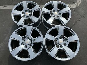 Four 2018 Chevy Silverado Factory 20 Wheels Oem 5652 Tahoe Suburban 1500 Chrome