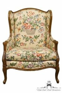 Hickory Tavern Country French Louis Xvi Floral Upholstered Accent Arm Chair