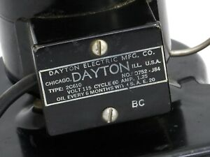 Vintage Black Dayton Motor Blower Tool Fan Made In Usa