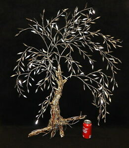 Large 3d Vintage Wall Art Metal Sculpture Tree Mid Century Modern Curtis Jere