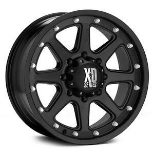 17 Inch Black Wheels Rims Dodge Ram 2500 3500 8x6 5 Lug Xd Series Xd798 Addict 4