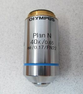 Olympus Microscope Objective 40x Plan Uis2 For Bx Cx