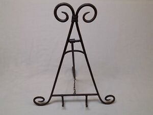 17 Hollywood Regency Easel Picture Art Photo Holder Display Stand Metal Brown