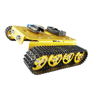 Smart Tank Chassis Remote Control Platform Car For Arduino Diy Toy Golden