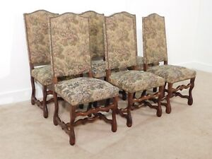 Antique Set Of 6 19th Century Tapestry Upholstered William Mary Side Chairs