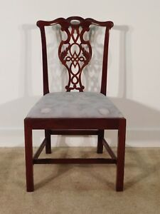 Baker Historic Charleston Chippendale Mahogany Side Chair