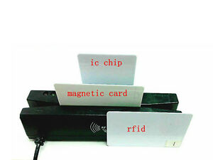 4 in 1 Card Reader Writer Encoder Support Magnetic emv Ic Chip rfid psam