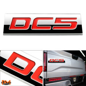 dc5 Polished Metal 3d Decal Red Emblem Exterior Badge For 02 06 Acura Rsx