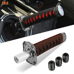 Katana Samurai Sword 215mm H Aluminum Gun Mental Shift Knob W Black Woven Handle