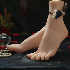 High Quality Realistic Silicone Female Mannequin Feet Model Shoes Sock Displays
