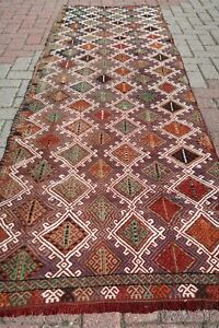 Vintage Turkish Kilim Runner Rug Hallway Rug Corridor 33 8 X102 7 Carpet Runner