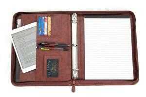 Business Portfolio Briefcase Organizer Folder W handles Notepad
