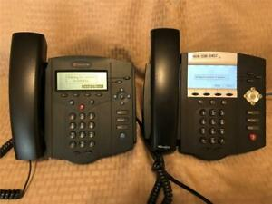 Lot Of 2 Polycom Soundpoint Ip430 Sip Ip450 Digital Business Telephone