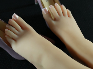 One Pair Silicone High Arch Female Mannequin Feet Model Shoes Displays