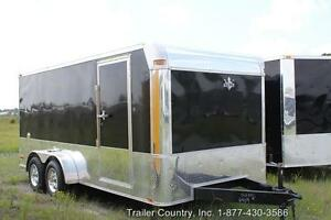 New 2019 7 X 16 7x16 Enclosed Cargo Motorcycle Trailer Loaded W Options