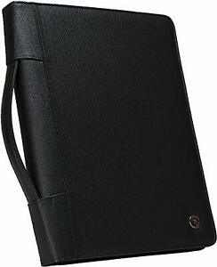 Case it Executive Zippered Padfolio With Removable 3 ring Binder And Letter Size