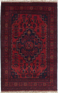 Hand Knotted Carpet 3 10 X 6 3 Traditional Vintage Wool Rug