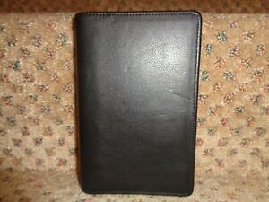 Franklin Quest Covey Usa Black Nappa Leather Binder Close Pocket Size Planner