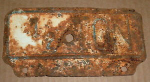 Rusted Vintage 1 2 Ton License Plate Topper Tag For Ford Chevrolet Chevy Dodge