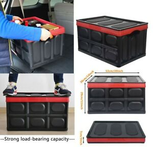 Trunk Storage Tool Organizer Box Suv Vehicle Car Bed Family Vans Container Black