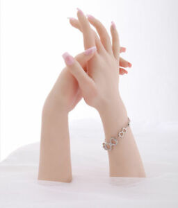 2019 Silicone Female Mannequin Hands Arbitrarily Bent Posed Jewelery Display
