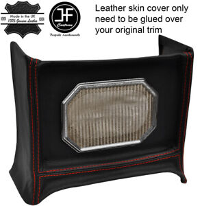 Red Stitch Radio Console Surround Leather Cover Fits Mg Mgb Early 4 Synchro