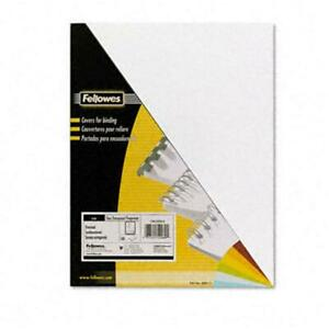 Fellowes 52089 Pvc Presentation Binding System Covers 8 1 2 X 11 Clear 100 Pe