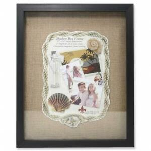 Lawrence Frames 530511 Front Hinged Shadow Box Frame With Burlap Display Boar