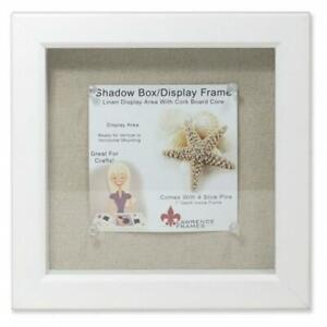 Lawrence Frames 168188 Shadow Box Frame With Linen Inner Display Board Whit