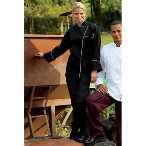 Uncommon Threads 4003 3305 Yarn Dyed Baggy Chef Pant In Black And White Pinst
