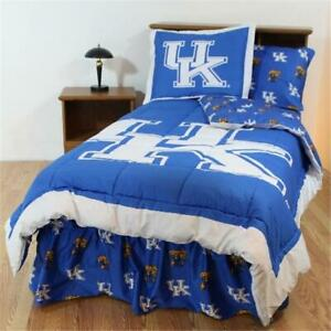 College Covers Kenbbqu Kentucky Bed In A Bag Queen With Team Colored Sheets