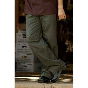 Uncommon Threads 4102 6502 Grunge Cargo Chef Pant In Olive Small
